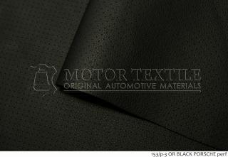 Автомобильная кожа 153/р-3 BLACK PORSCHE perf